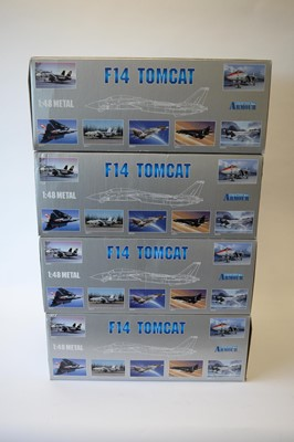 Lot 801 - Collection Armour 1:48 Scale metal diecast aeroplanes - F14 Tomcat.