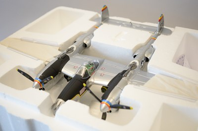Lot 809 - Collection Armour 1:48 Scale metal diecast aeroplanes - P38 Lightning.