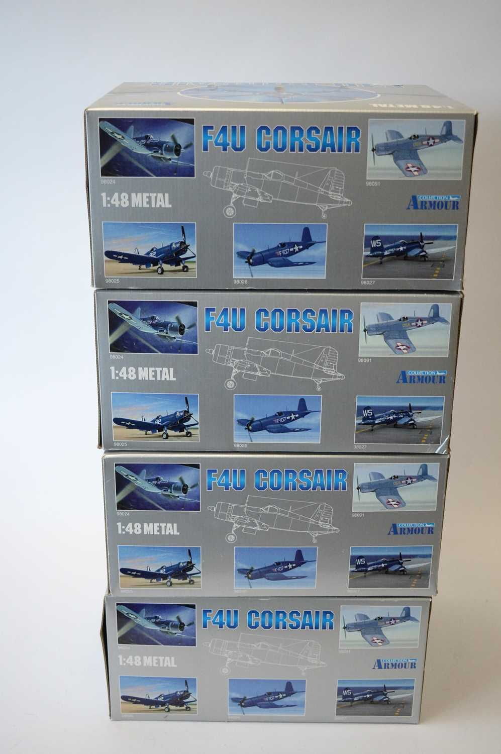Lot 811 - Collection Armour 1:48 Scale metal diecast aeroplanes - F4U Corsair.