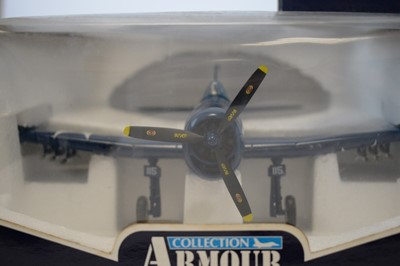 Lot 819 - Collection Armour 1:48 Scale metal diecast aeroplanes - F6F Hellcat.