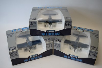 Lot 818 - Collection Armour 1:48 Scale metal diecast aeroplanes - F6F Hellcat.