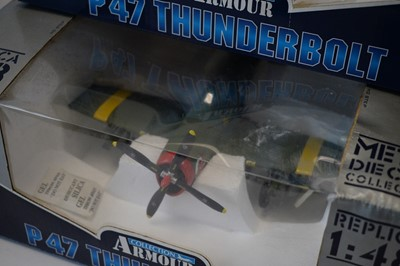 Lot 817 - Collection Armour 1:48 Scale metal diecast aeroplanes - P47 Thunderbolt.