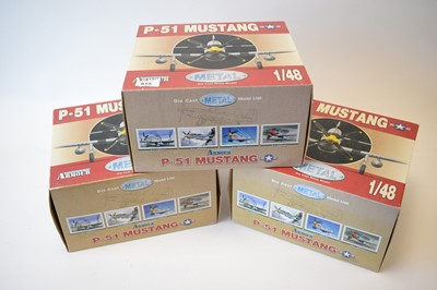 Lot 815 - Collection Armour 1:48 Scale metal diecast aeroplanes - P51 Mustang.