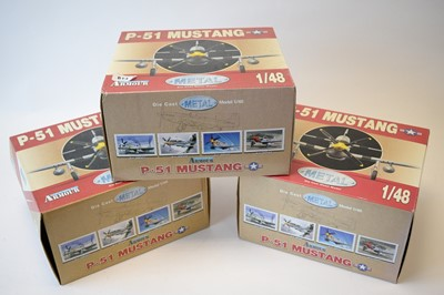 Lot 814 - Collection Armour 1:48 Scale metal diecast aeroplanes - P51 Mustang.