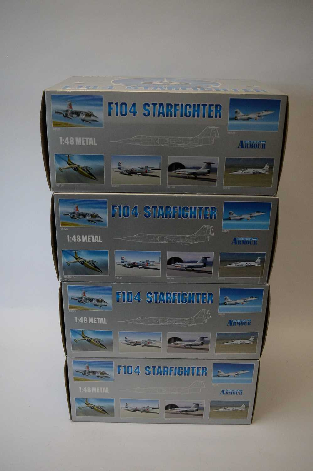 Lot 799 - Collection Armour 1:48 Scale metal diecast aeroplanes - F104 Starfighter.