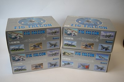Lot 794 - Collection Armour 1:48 Scale metal diecast aeroplanes - F16 Falcon.