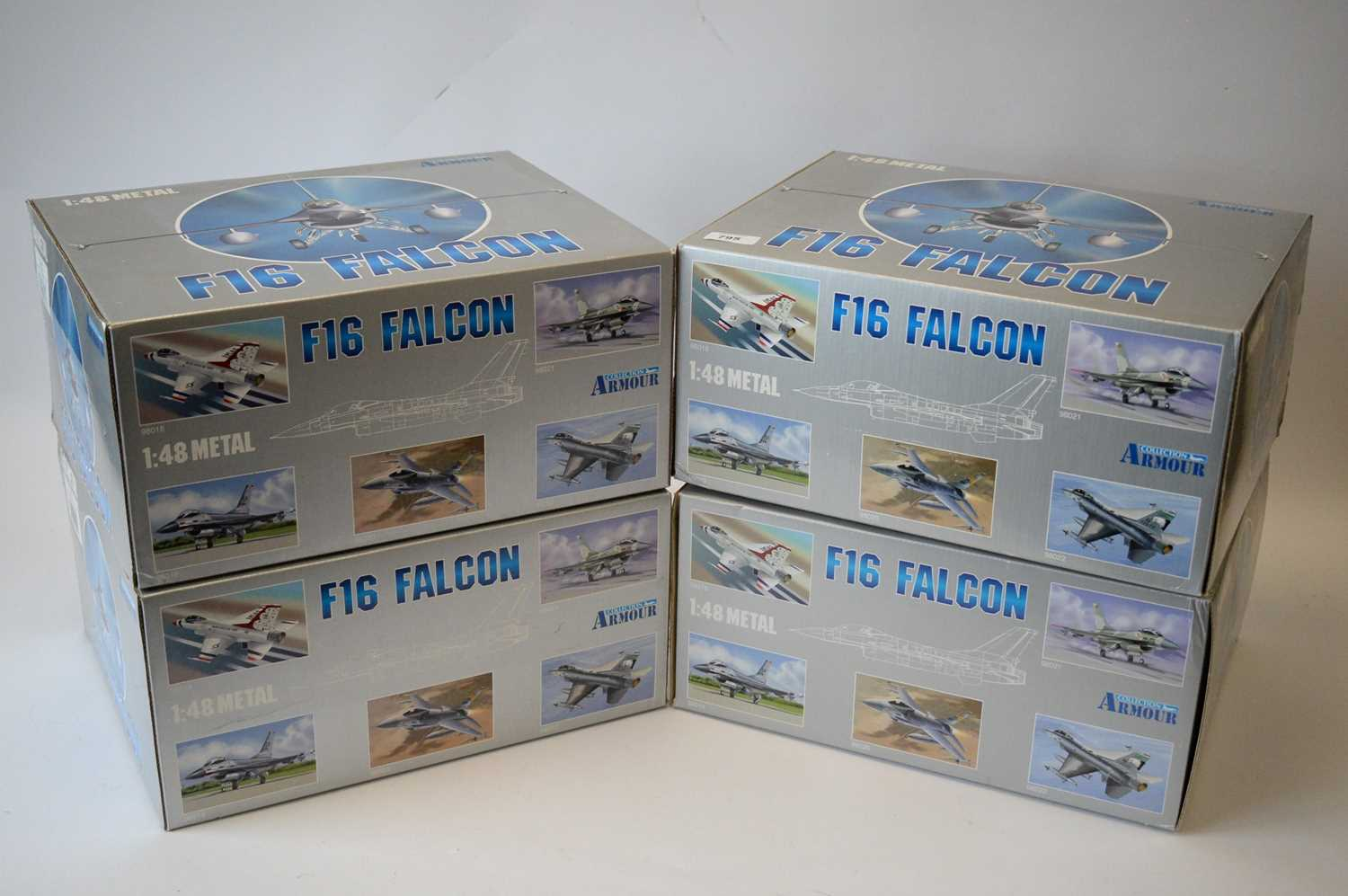 Lot 795 - Collection Armour 1:48 Scale metal diecast aeroplanes - F16 Falcon.
