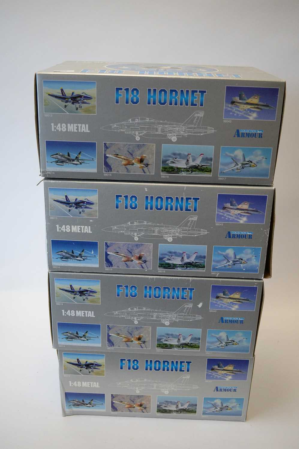 Lot 796 - Collection Armour 1:48 Scale metal diecast aeroplanes - F18 Hornet.