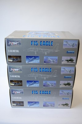 Lot 479 - Collection Armour 1:48 Scale metal diecast aeroplanes - F15 Eagle.