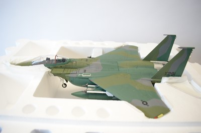 Lot 793 - Collection Armour 1:48 Scale metal diecast aeroplanes - F15 Eagle.