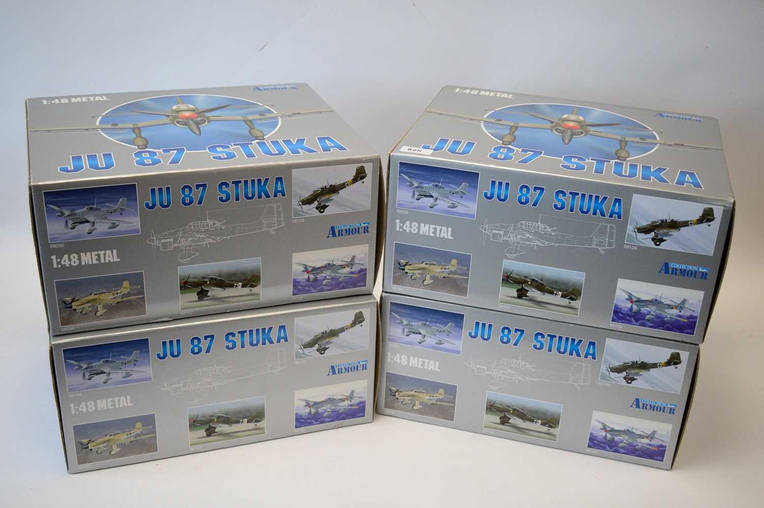 Lot 825 - Collection Armour 1:48 Scale metal diecast aeroplanes - JU87 Stuka.