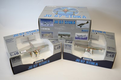 Lot 824 - Collection Armour 1:48 Scale metal diecast aeroplanes - JU87 Stuka.