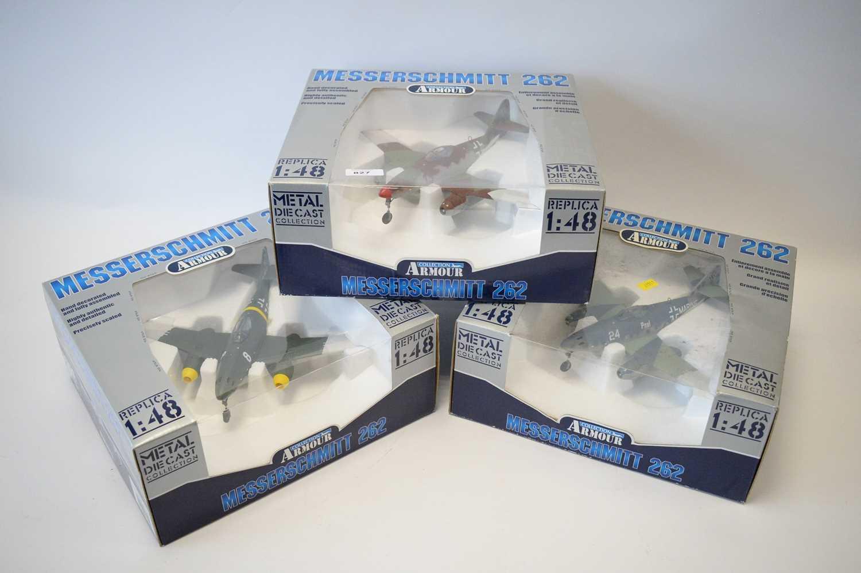 Lot 827 - Collection Armour 1:48 Scale metal diecast aeroplanes - Messerschmitt 262.