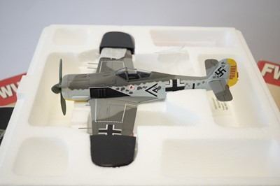 Lot 829 - Collection Armour 1:48 Scale metal diecast aeroplanes - FW190 Focke Wulf.