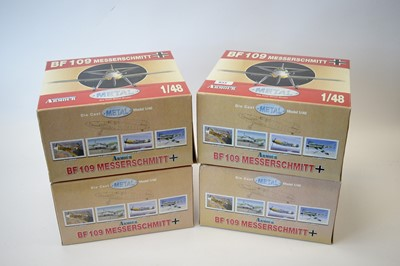 Lot 833 - Collection Armour 1:48 Scale metal diecast aeroplanes - Bf109 Messerschmitt.