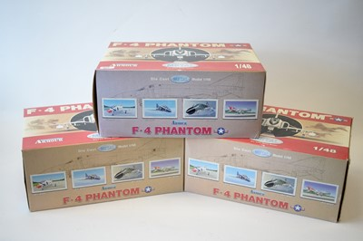 Lot 802 - Collection Armour 1:48 Scale metal diecast aeroplanes - F4 Phantom.
