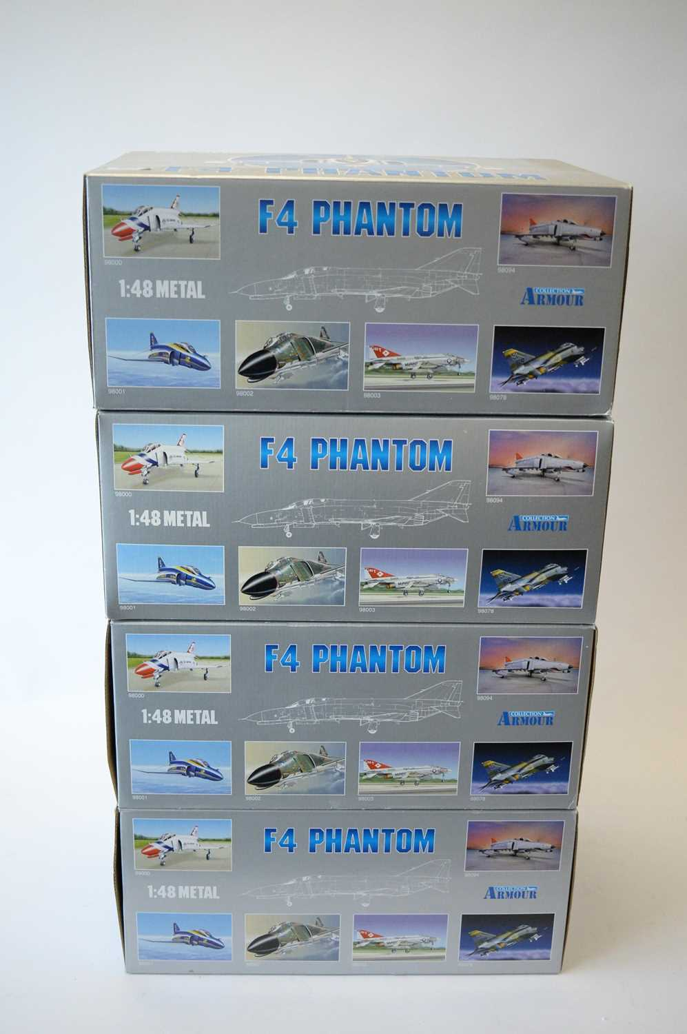 Lot 804 - Collection Armour 1:48 Scale metal diecast aeroplanes - F4 Phantom.