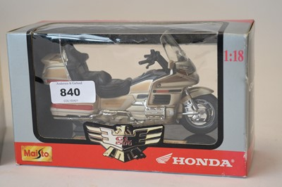 Lot 840 - Diecast model motorcycles by Maisto and Protar.