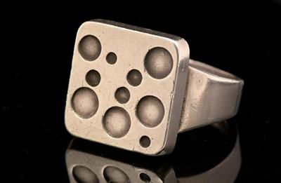 Lot 738 - Magnus Steffensen for Georg Jensen, ring with circle design