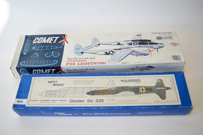 Lot 852 - Two balsawood flying models.