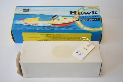 Lot 857 - Sutcliffe tinplate clockwork model boats.