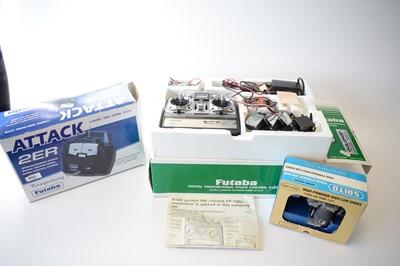 Lot 474 - Two Futaba radio control systems; and a Saito FA-40 Special aeroplane engine.