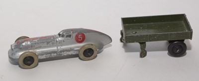 Lot 878 - Hausser and Dinky army vehicles and figures.