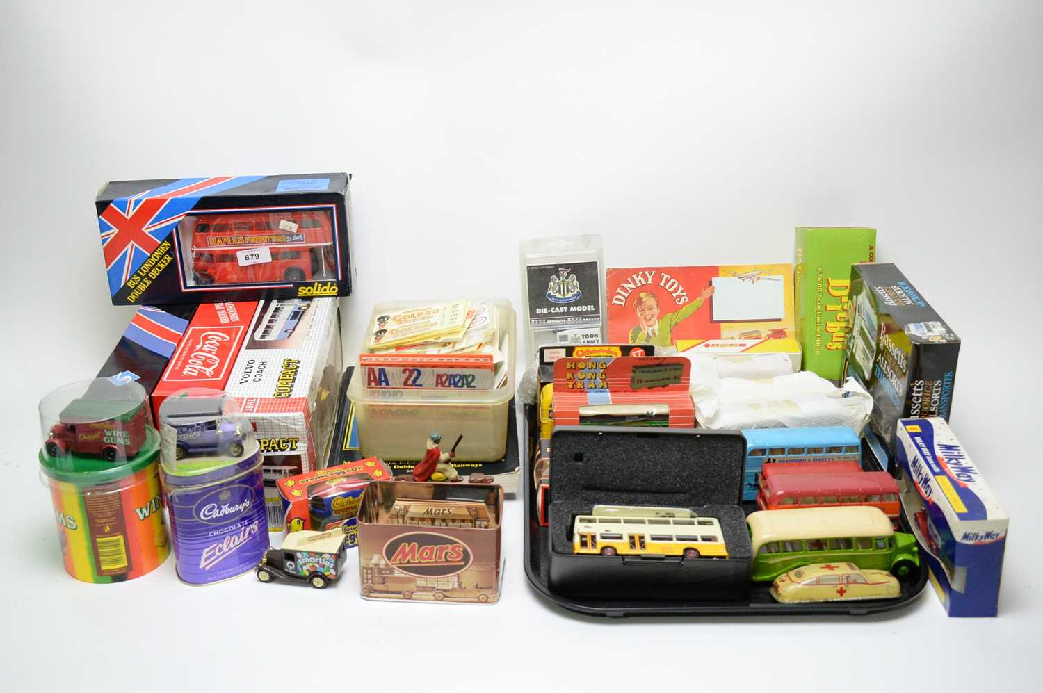 Lot 879 - Sundry diecast vehicles and other toys.