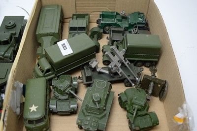 Lot 889 - Military diecast model vehicles.
