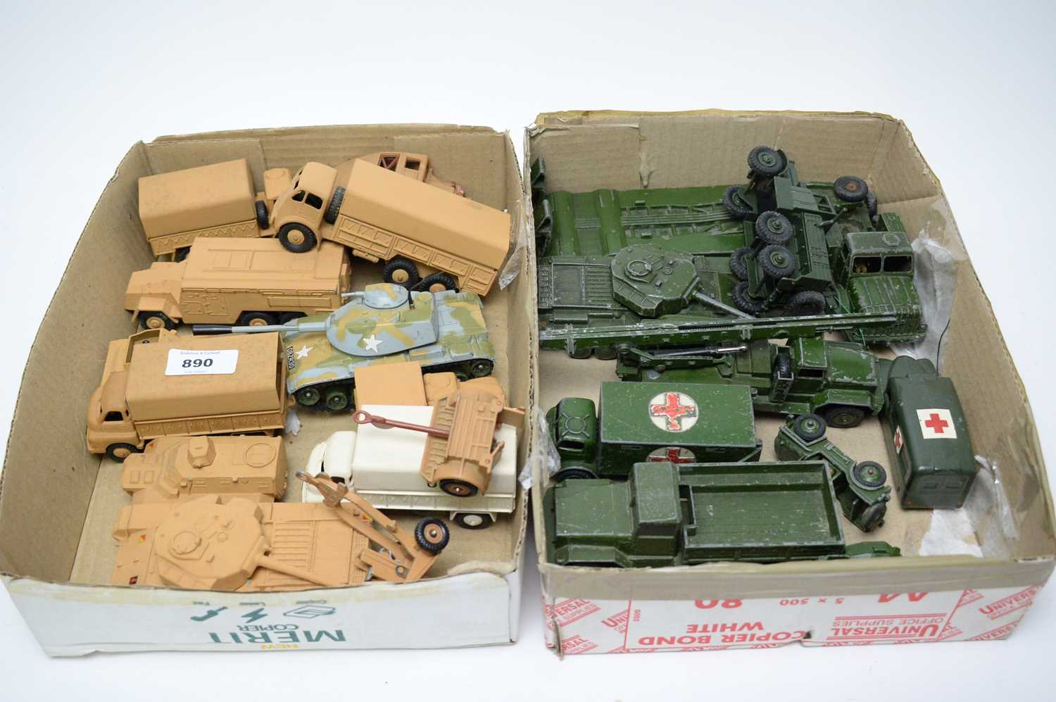 Lot 890 - Military diecast model vehicles.