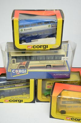 Lot 896 - Corgi diecast bus models.