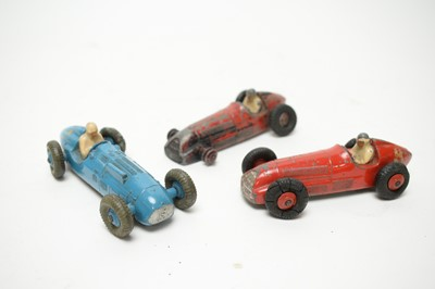 Lot 915 - Dinky diecast vehicles, and hollow-cast lead figures and animals.