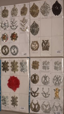 Lot 1133 - A collection of 33 Scottish Glengarry cap badges.