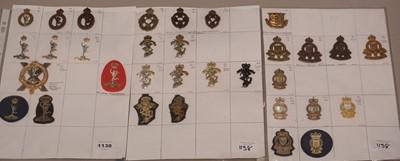 Lot 1138 - A collection of 32 Military Corps badges.