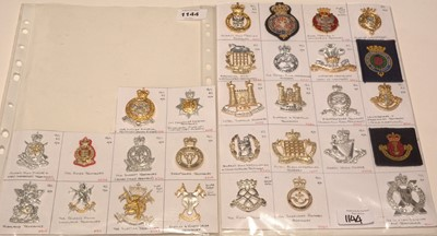 Lot 1144 - A collection of 29 Yeomanry cap badges.