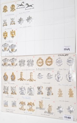 Lot 1149 - A collection of 22 pairs of Cavalry collar badges.