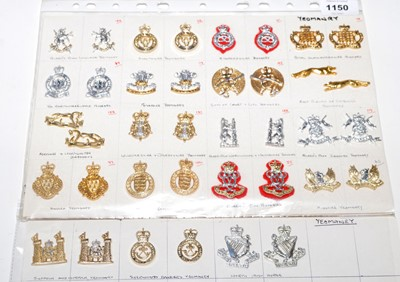 Lot 1150 - A collection of 19 pairs of Yeomanry collar badges.