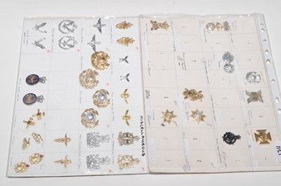 Lot 1151 - A collection of 15 pairs and 9 single collar badges.