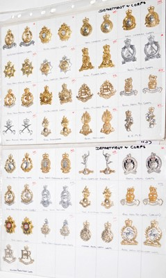 Lot 1155 - A collection of 29 pairs of Department and Corps collar badges.