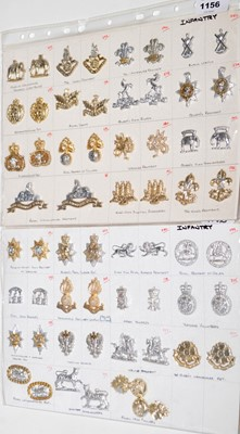Lot 1156 - A collection of 30 pairs of Infantry collar badges.