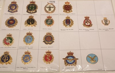 Lot 1170 - A collection of 18 Canadian enamel Armed Forces badges.