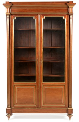 Lot 821 - Late 19th Century French Directoire style breakfront bookcase