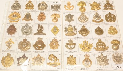 Lot 1174 - A collection of 40 Post 1950's Canadian cap badges.