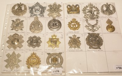 Lot 1176 - A collection of 20 Post 1950's Canadian Glengarry badges.