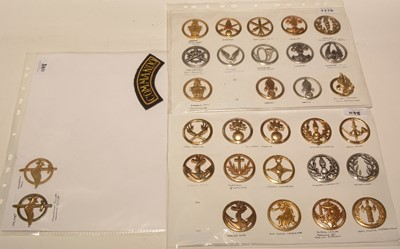 Lot 1178 - A collection of 30 French military beret badges.