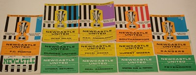 Lot 1234 - Newcastle United Fairs' Cup and other football programmes.