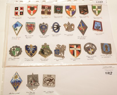 Lot 1182 - A collection of 25 French enamel pocket crests.