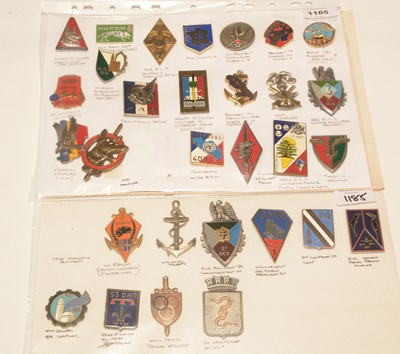 Lot 1185 - A collection of 30 French enamel pocket crests.