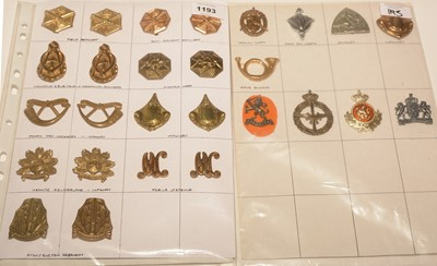 Lot 1193 - A collection of 9 pairs and 9 single of Dutch shoulder and Military badges.