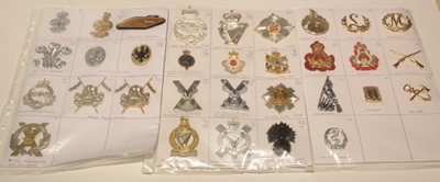 Lot 1195 - A collection of 32 Military cap badges relating to Bands.